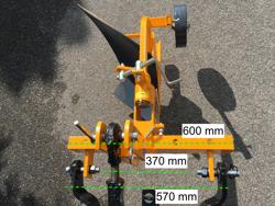 einscharpflug für kleintraktoren wie z b iseki kubota mod dp 18