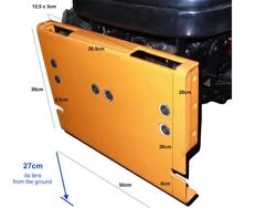 schneeschild mit universalplatte 220cm mittelschwere ausführung mod ln 220 a