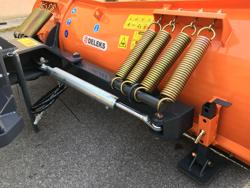schneeschild für minibagger oder gabelstapler 200 cm mittelschwere ausführung mod ln 200 m