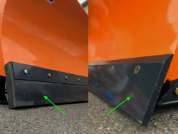 schneeschild für minibagger oder gabelstapler 220 cm mittelschwere ausführung mod ln 220 m