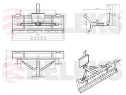 schneeschild mit universalplatte 170cm leichte ausführung mod lns 170 a