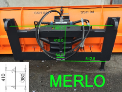 schneeschild mit aufnahme für teleskoplader merlo mod ssh 04 2 2 merlo