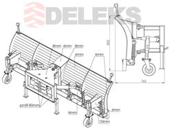 schneeschild mit aufnahme für teleskoplader merlo mod ssh 04 3 0 merlo
