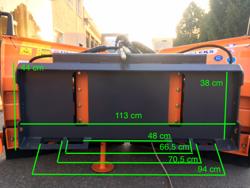 schneepflug für minibagger 220 cm mod lnv 220 m