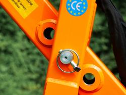 erdbohrer mit hydraulischen zylinderarm für traktoren mod l 50h