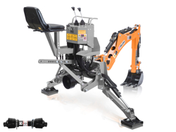mini heckbagger für traktor inkl baggerlöffel mod dk 950