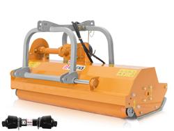 mittelschwerer mulcher mit front u heckanbau und hydraulische seitenverstellung für alle mittleren traktoren mit reifen oder gleisketten deleks