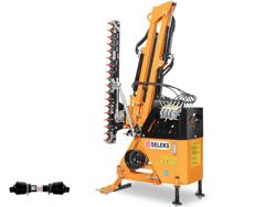 hydraulischer böschungsmulcher mit auslegearm für traktor mod airone 130 tr