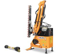 hydraulischer böschungsmulcher mit auslegearm für traktor mod airone 180 tr